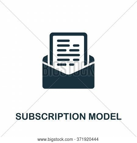 Subscription Model Icon. Simple Element From Content Marketing Collection. Creative Subscription Mod