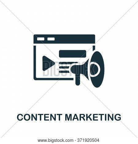 Content Marketing Icon. Monochrome Simple Content Marketing Icon For Templates, Web Design And Infog