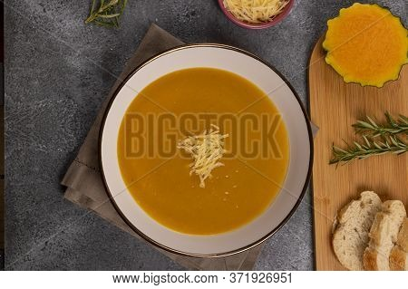 Pumpkin Soup, Typical Of Peru, Also Called As: Zapallo Loche Or Lambayeque.
