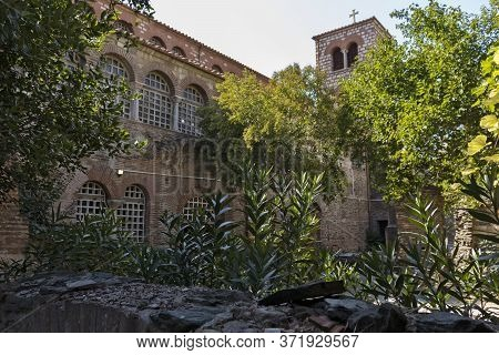 Thessaloniki, Greece - September 22, 2019: Ancient Byzantine Church Of St. Demetrios In City Of Thes
