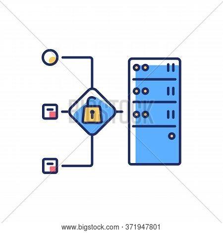 Open Proxy Rgb Color Icon. Public Vps Service, Internet Accessibility, Virtual Network. Forward Prox