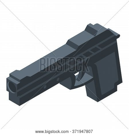 Policeman Gun Icon. Isometric Of Policeman Gun Vector Icon For Web Design Isolated On White Backgrou