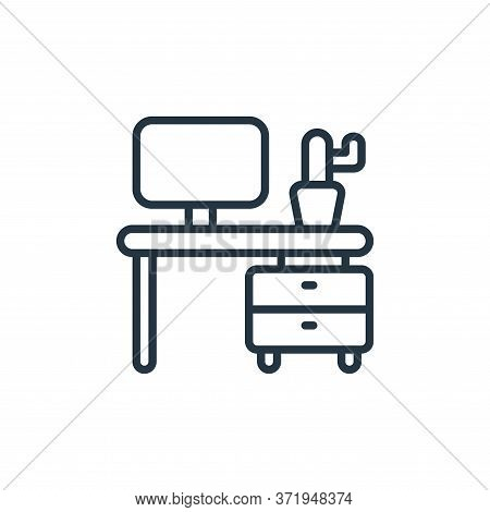 desk icon isolated on white background from  collection. desk icon trendy and modern desk symbol for