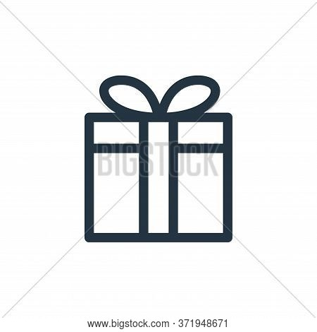 gift icon isolated on white background from  collection. gift icon trendy and modern gift symbol for