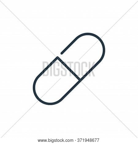 pill icon isolated on white background from  collection. pill icon trendy and modern pill symbol for