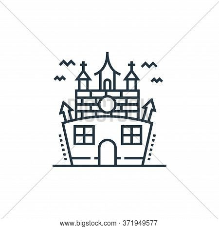 Haunted House Vector Icon Isolated On White Background.