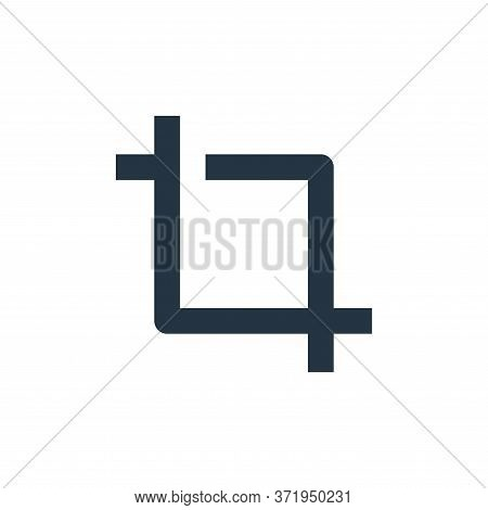 crop icon isolated on white background from  collection. crop icon trendy and modern crop symbol for