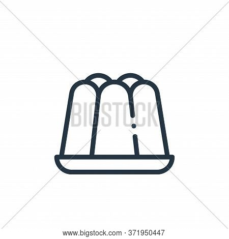 jelly icon isolated on white background from  collection. jelly icon trendy and modern jelly symbol