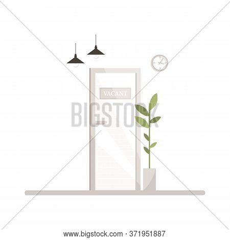 Vacant Work Position Semi Flat Rgb Color Vector Illustration. Interview For Corporate Career With Hr