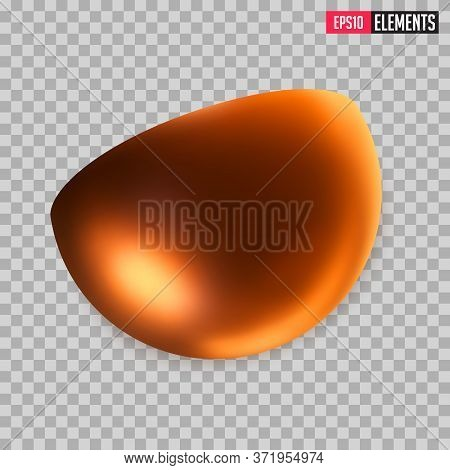 Golden Metal Semi Sphere Or Half Of The Ball, Semi Circular Ball, Cut Sphere Shape. Decorative Geome