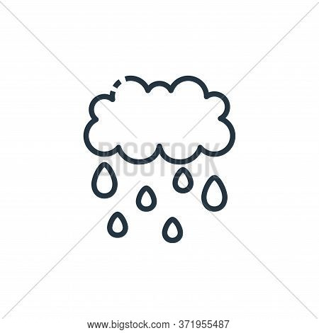 rainy icon isolated on white background from  collection. rainy icon trendy and modern rainy symbol