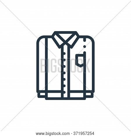 shirt icon isolated on white background from  collection. shirt icon trendy and modern shirt symbol