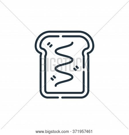 bread icon isolated on white background from  collection. bread icon trendy and modern bread symbol