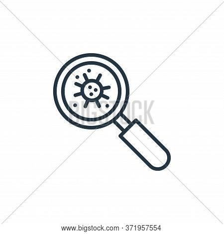 magnifying glass icon isolated on white background from  collection. magnifying glass icon trendy an