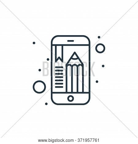 mobile app icon isolated on white background from  collection. mobile app icon trendy and modern mob
