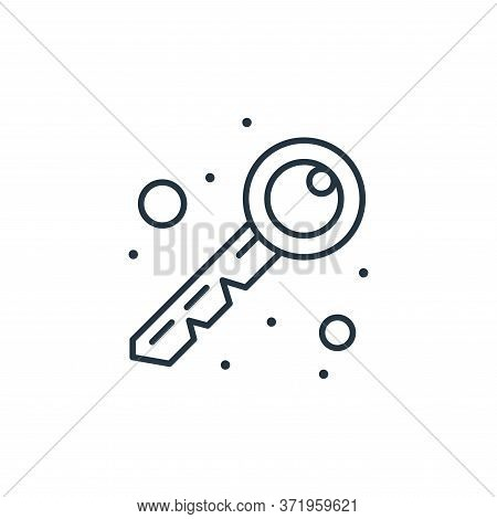 key icon isolated on white background from  collection. key icon trendy and modern key symbol for lo