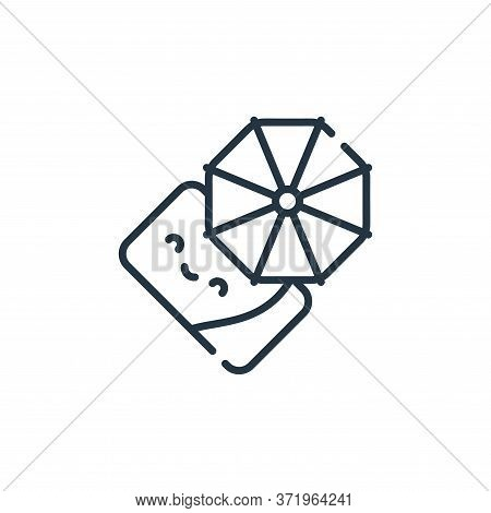 beach umbrella icon isolated on white background from  collection. beach umbrella icon trendy and mo