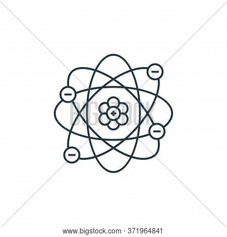 atom icon isolated on white background from  collection. atom icon trendy and modern atom symbol for