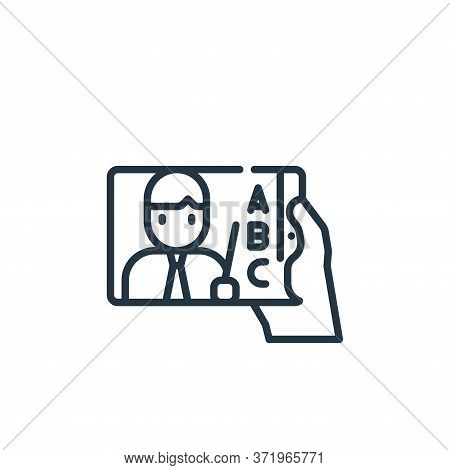 online learning icon isolated on white background from  collection. online learning icon trendy and