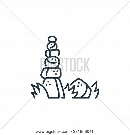 stones icon isolated on white background from  collection. stones icon trendy and modern stones symb