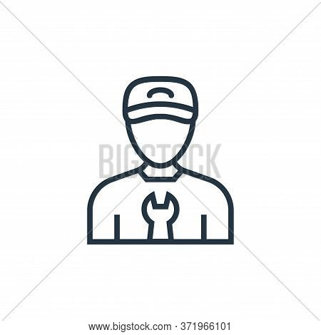 mechanic icon isolated on white background from  collection. mechanic icon trendy and modern mechani