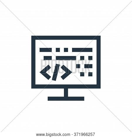 coding icon isolated on white background from  collection. coding icon trendy and modern coding symb