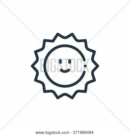 sun icon isolated on white background from  collection. sun icon trendy and modern sun symbol for lo