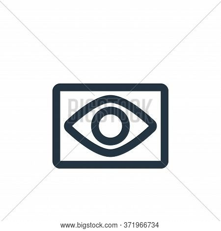 eye icon isolated on white background from  collection. eye icon trendy and modern eye symbol for lo