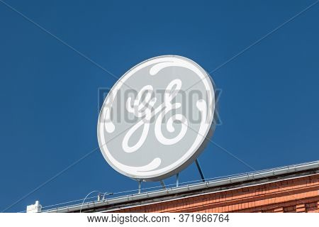 Elblag, Poland - May 31, 2020: Logo And Sign Of General Electric Company (ge).
