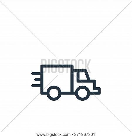 truck icon isolated on white background from  collection. truck icon trendy and modern truck symbol