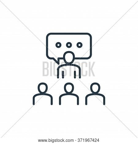 Briefing Vector Icon Isolated On White Background.