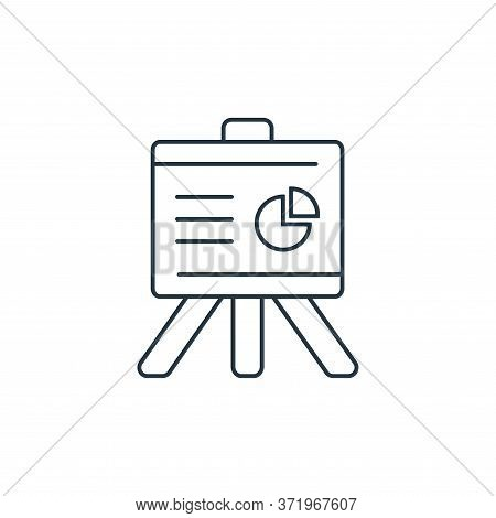 presentation icon isolated on white background from  collection. presentation icon trendy and modern