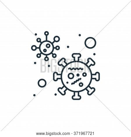bacteria icon isolated on white background from  collection. bacteria icon trendy and modern bacteri