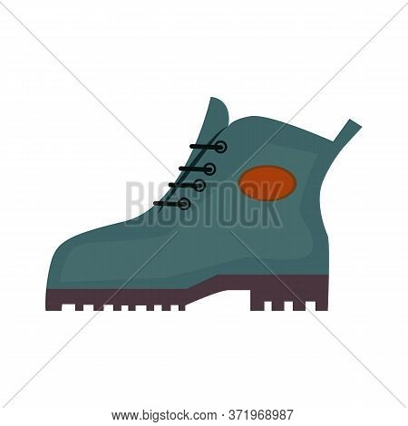 Trekking Boots. Walking, Foot, Footwear. Trekking Concept. Illustration Can Be Used For Topics Like