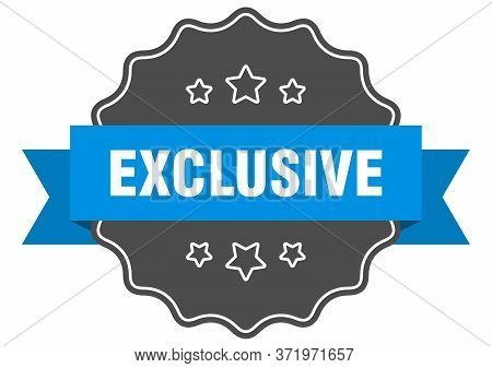 Exclusive Blue Label. Exclusive Isolated Seal. Exclusive