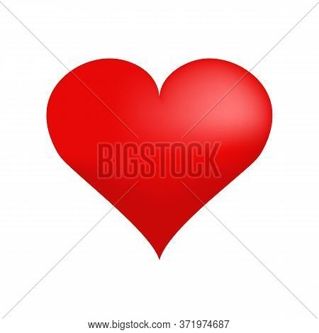 Red Valentine Heart. Date, Affection, Bonding. Can Be Used For Topics Like Romance, Love, Feeling