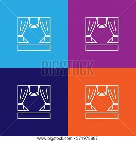 Stage Theatre Icon. Element Of Theatre Illustration. Premium Quality Graphic Design Icon. Signs And