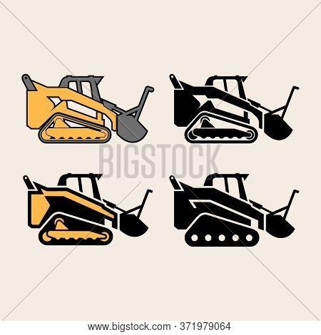 Set Of Vector Illustrations Supertrak. Agricultural Machinery.