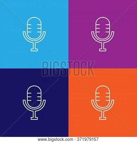 Mic Theatre Icon. Element Of Theatre Illustration. Premium Quality Graphic Design Icon. Signs And Sy