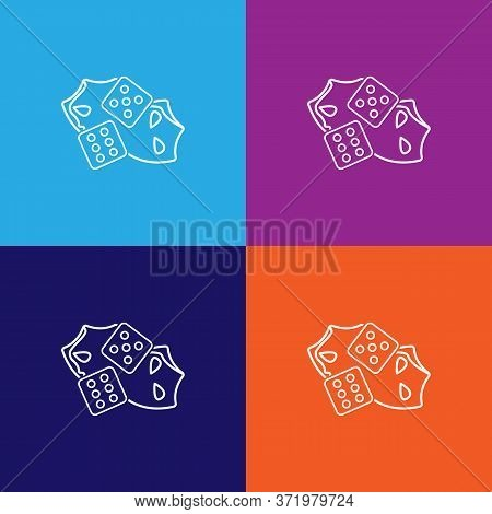 Dice Theatre Icon. Element Of Theatre Illustration. Premium Quality Graphic Design Icon. Signs And S