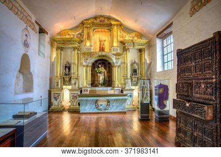 Cuenca, Ecuador, November 2013: Small Sacristy Inside The Sagrario Church, Or Sanctuary Church, With
