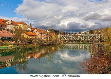 Bridge Over Krka River In Novo Mesto Slovenia