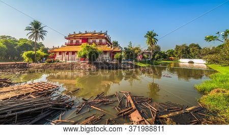 Phra Thinang Wehart Chamrun In Bang Pa-in Royal Palace Or The Summer Palace In Ayutthaya Province, T