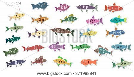 English Alphabet. Simple Game. Print And Play. Education. Letters. Fishing. Learning Alphabet Game.