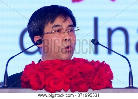 Bucharest, Romania - December 16, 2019: Liu Liange, Chairman Of The Board Of Directors And President