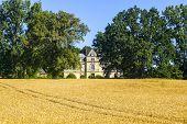 Countryside near Le Mans (Sarthe Pays de la Loire France) - Ancient castle house poster