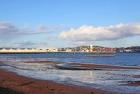 Paignton Pier And Seafront, Torbay In Devon