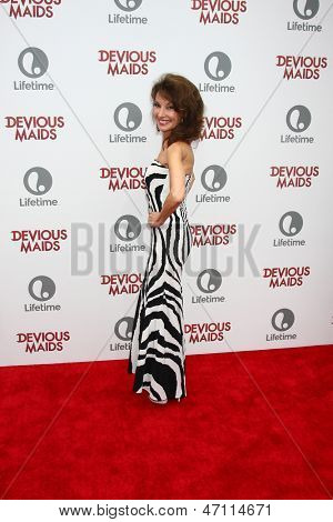 """LOS ANGELES - JUN 17:  Susan Lucci arrives at the """"Devious Maids""""  Lifetime's Original Series Premiere at the Bel-Air Bay Club on June 17, 2013 in Pacific Palisades, CA"""