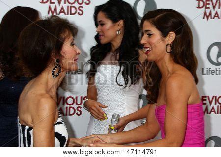 LOS ANGELES - JUN 17:  Susan Lucci, Edy Ganem, Ana Ortiz arrives at the