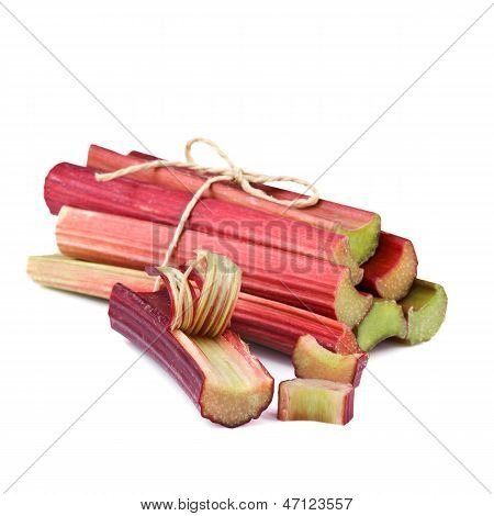 rhubarb isolated on white background